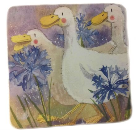 Three Ducks Corked Backed Coaster